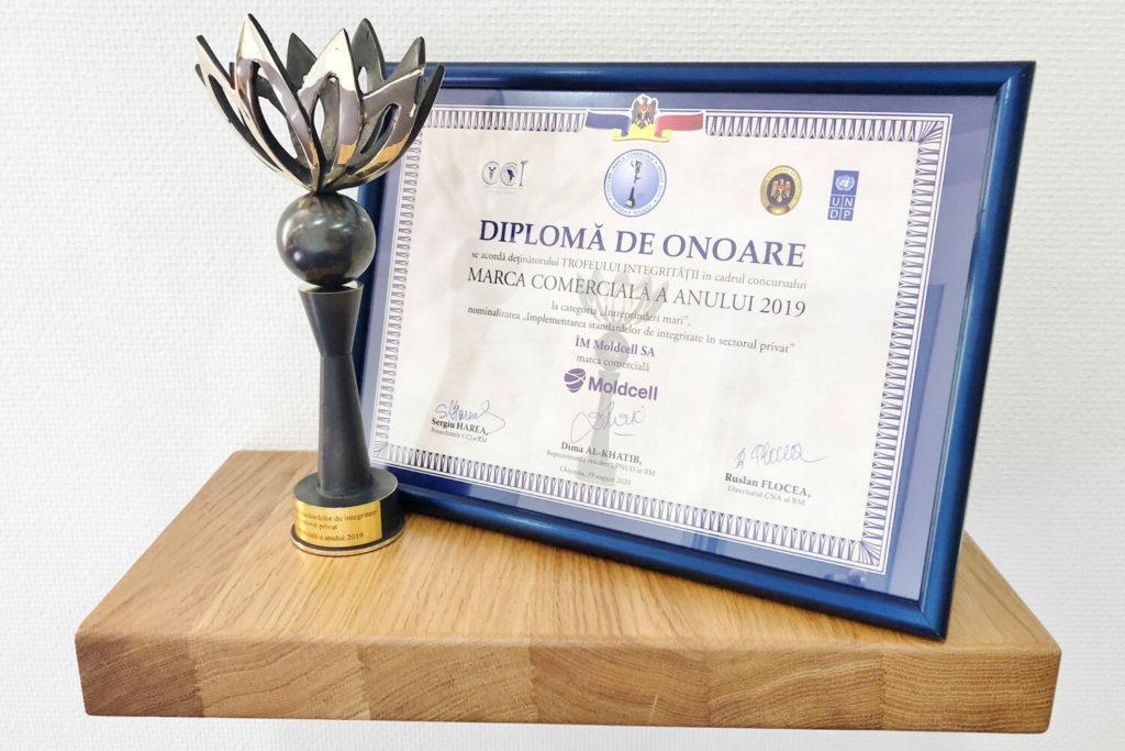 Moldcell получил Трофей целостности за внедрение стандартов этики и соответствия