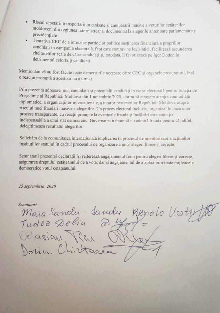 Санду, Усатый и Киртоакэ попросили внешних партнеров не допустить фальсификации на выборах. Что на это ответили в ПСРМ