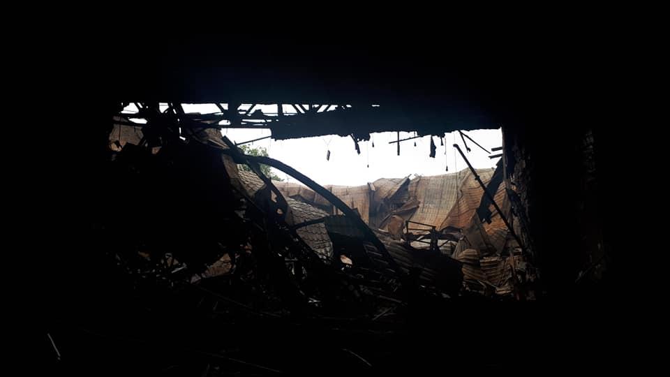 Incendiul din incinta Filarmonicii Naționale a fost lichidat (FOTO)