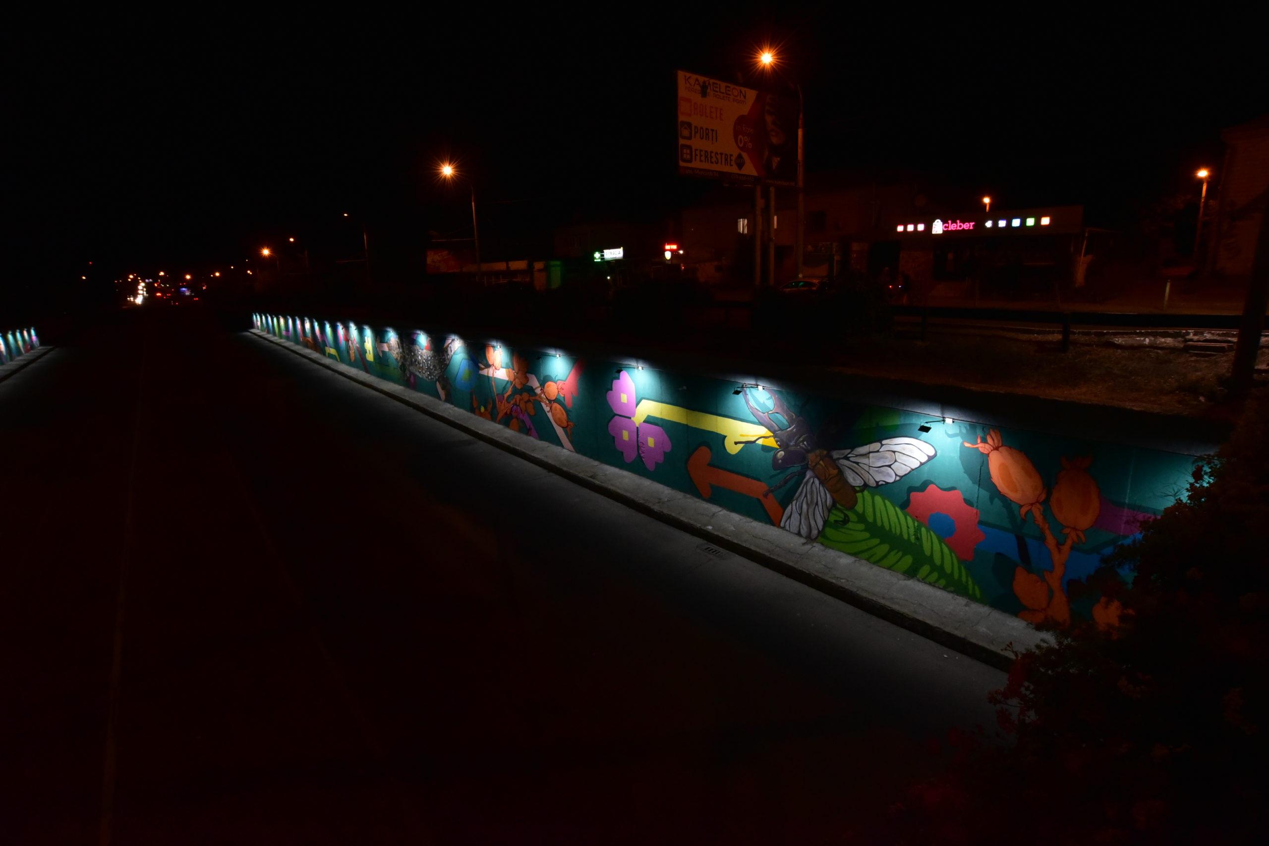 """Fotoreportaj NM. Cum arată pictura murală """"Pomul Vieții"""" de sub podul din cartierul Telecentru al capitalei"""