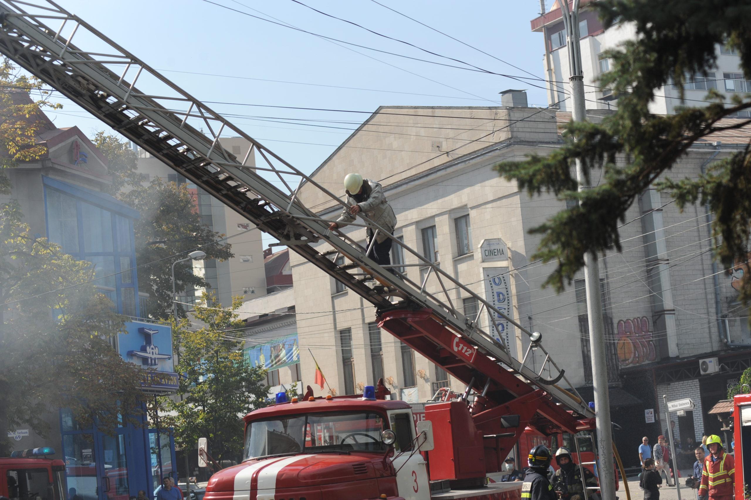 Как вКишиневе горела Национальная филармония. ФоторепортажNM