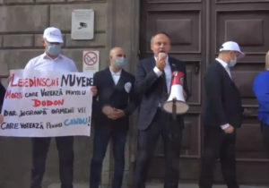 Pro Moldova проводит протест перед зданием ЦИК. Онлайн-трансляция