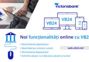 VB24 – noi funcționalități în aplicația de online banking de la Victoriabank