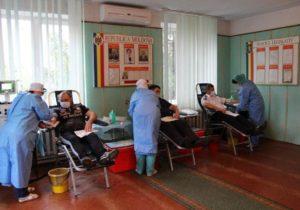 ВМолдове сотрудники МВД замесяц сдали более тонны крови