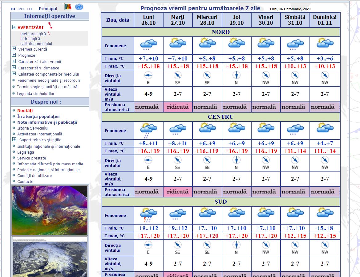 Alertă meteo: Cod Galben de ploi, însoțile de descărcări electrice