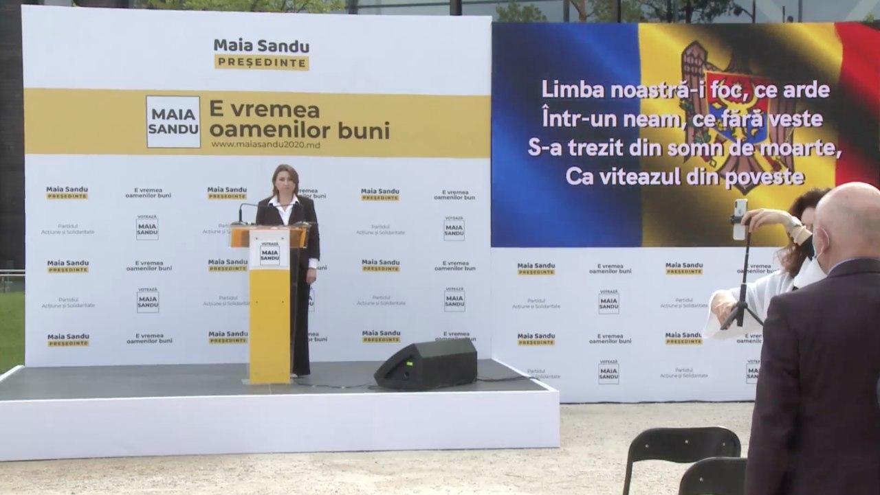 """""""Eu știu că nu sunt perfectă, dar mie îmi pasă"""". Maia Sandu s-a lansat în campania electorală (VIDEO)"""