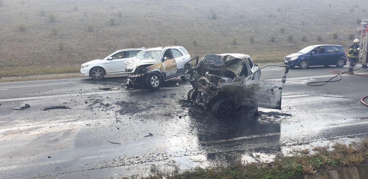 ВЯловенском районе врезультате ДТП загорелся автомобиль (ФОТО)