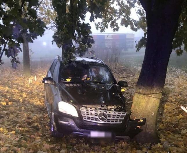 Un deputat din Pro Moldova s-a izbit cu mașina într-un copac (FOTO)