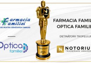 В этом году Farmacia Familiei снова получила премию Notorium Trademark Awards