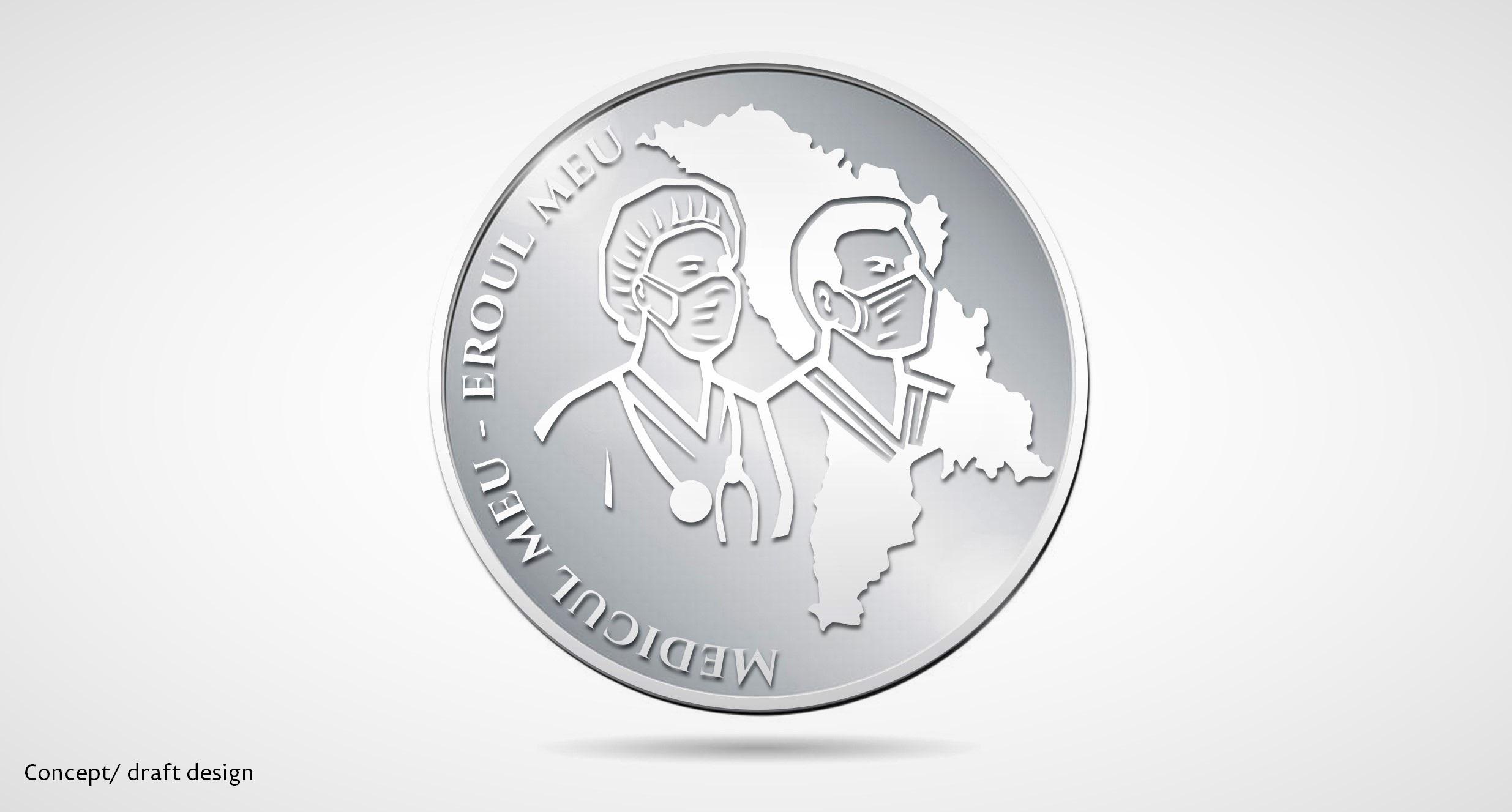 """Moneda comemorativă dedicată medicilor cu denumirea """"Medicul meu - eroul meu"""", aprobată. Cum va arăta aceasta? (FOTO)"""