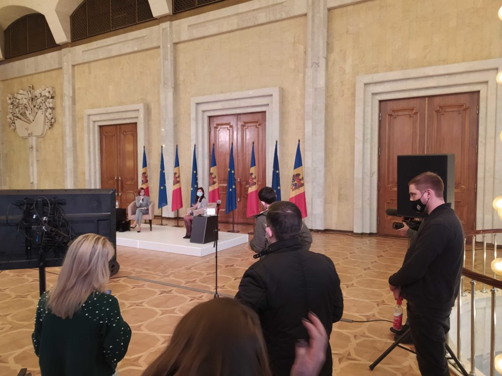 Maia Sandu susține prima conferință de presă de amploare în calitate de președinte ales al țării. Online NM
