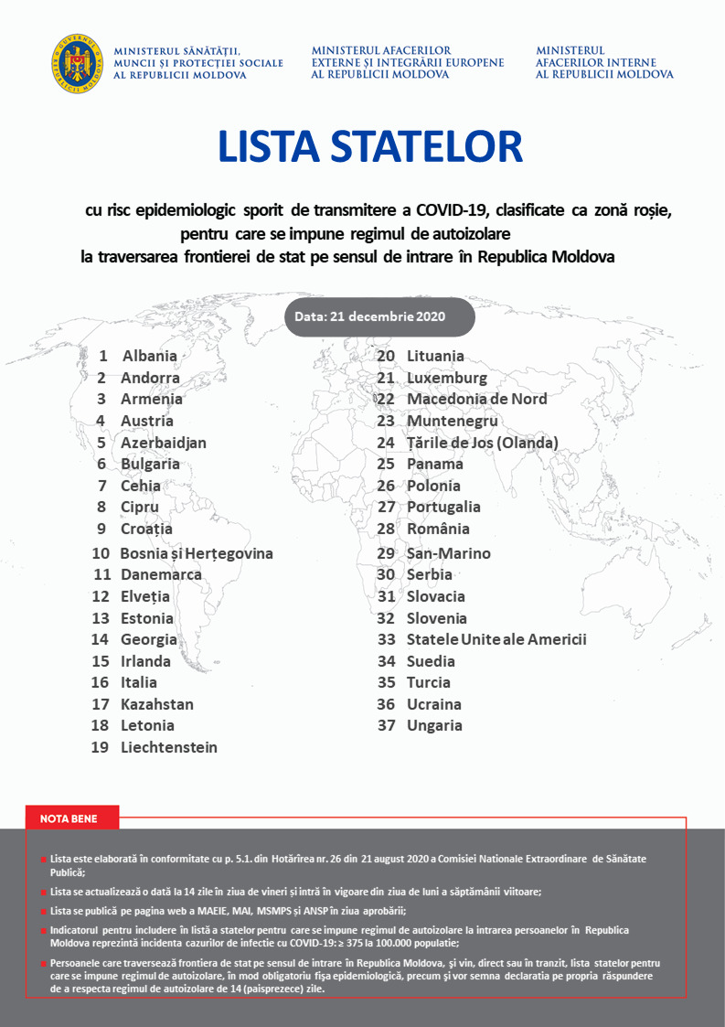 Plănuiți să vă întoarceți în Moldova? Verificați dacă veți sta sau nu în carantină