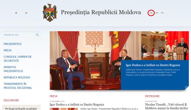 Dodon explică jurnaliștilor ruși de ce pe site-ul președinției a revenit limba română (VIDEO)