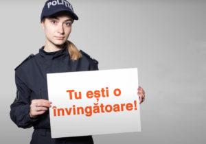 Ты победительница! Звони 112!  Полиция тебя защитит, если ты подвергаешься домашнему насилию