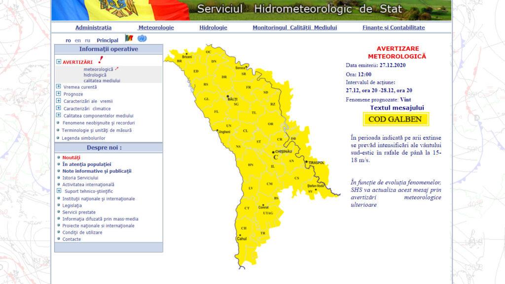 Cod galben de vânt puternic în toată țara. Până când este valabilă avertizarea?