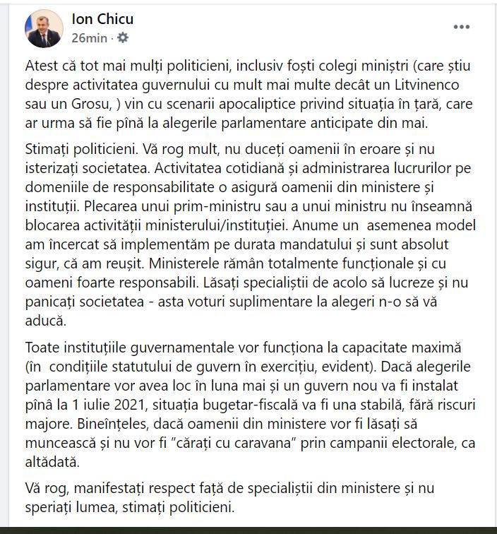 """Replica lui Chicu pentru Jizdan: """"Nu panicați societatea, voturi suplimentare la alegeri n-o să vă aducă"""""""