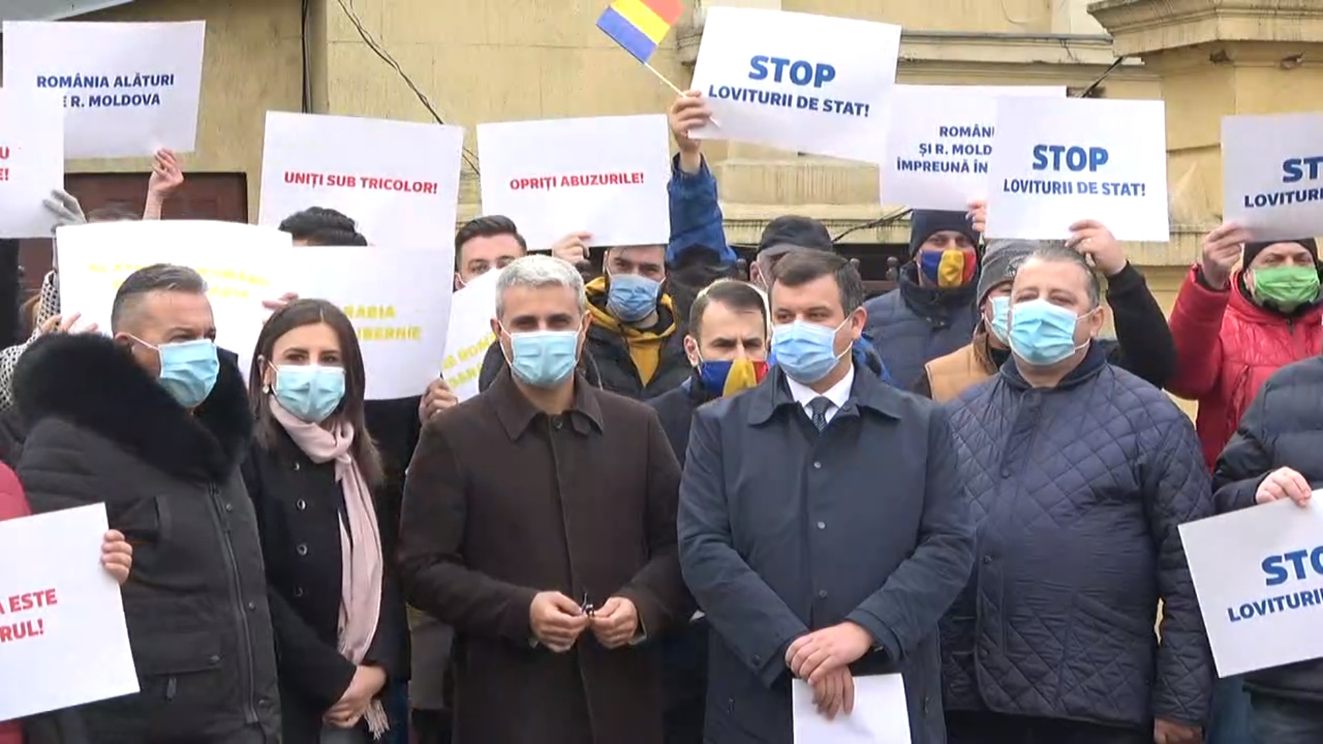"""Protest la București: """"S-au luat decizii care vizează rusificarea brutală a Republicii Moldova"""" (FOTO)"""