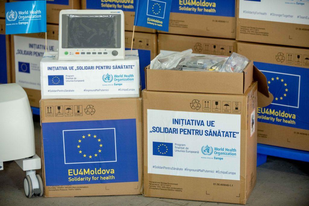Echipament medical în valoare de €1 mln, livrat în Moldova grație OMS și UE (FOTO)