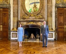 """""""Belgia a devenit a doua casă pentru foarte mulți"""". Maia Sandu s-a întâlnit cu regele Philippe"""