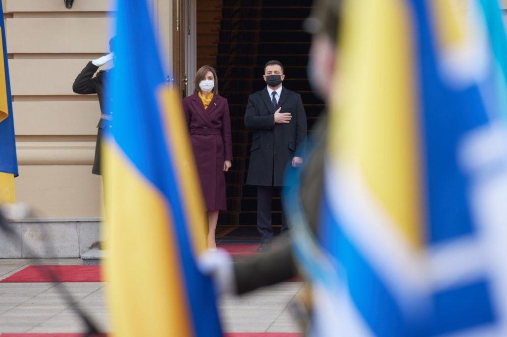 Primele fotografii de la întâlnirea dintre Sandu și Zelenski (FOTO)