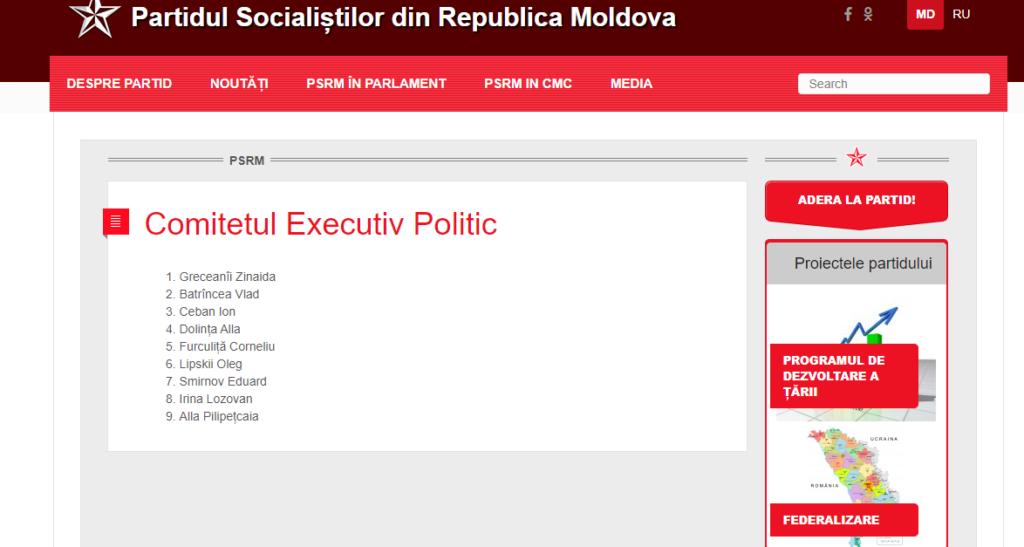 Ion Ceban, exclus din componența Executivului Politic al PSRM. Cine face parte din noua conducere a partidului?