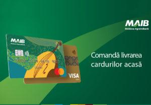 Moldova Agroindbank va livra cardurile bancare la domiciliul clienților
