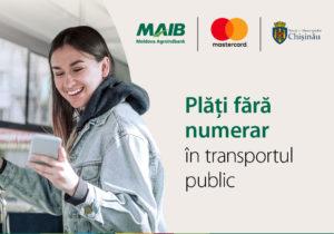 Mastercard și Moldova Agroindbank implementează primul proiect din Moldova de plăți fără numerar în transportul public