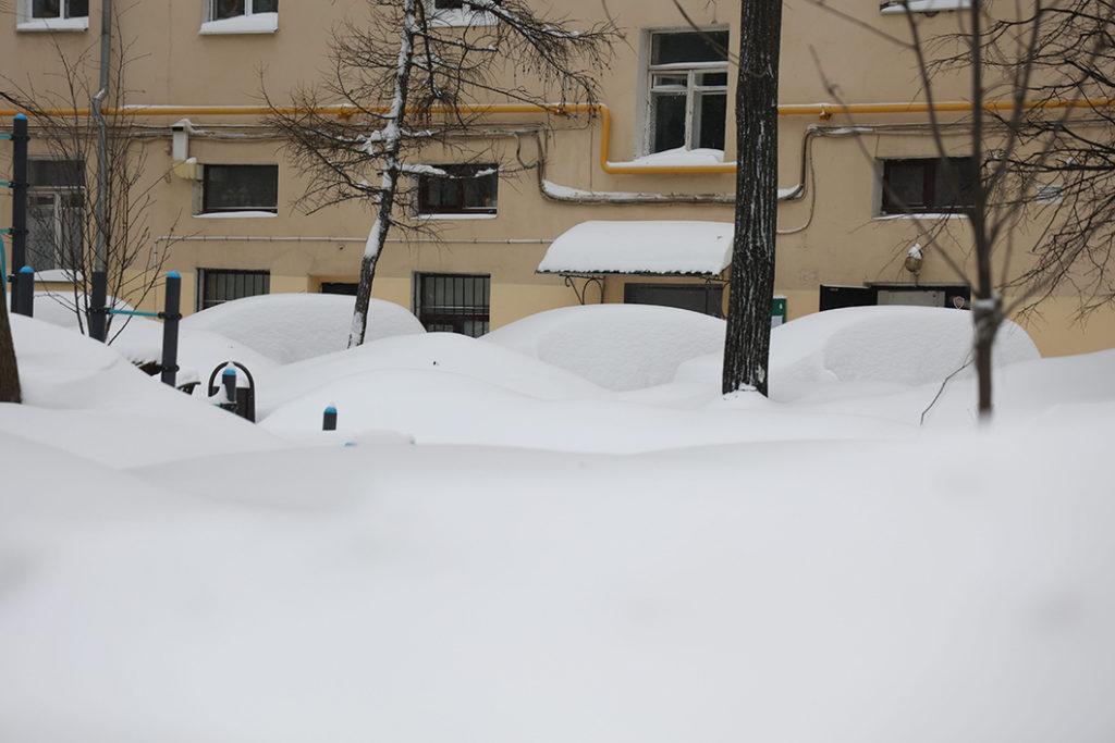 La Moscova a căzut cea mai mare cantitate de zăpadă de când se fac măsurători (FOTO)