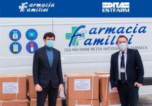 Dita EstFarm и Farmacia Familiei поддерживают иммунизацию против COVID-19, жертвуя для этих целей большую  партию шприцев