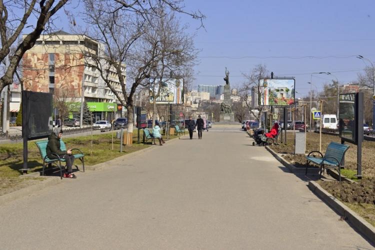Вцентре Кишинева начали ремонтировать пешеходную аллею набульваре Виеру (ФОТО)