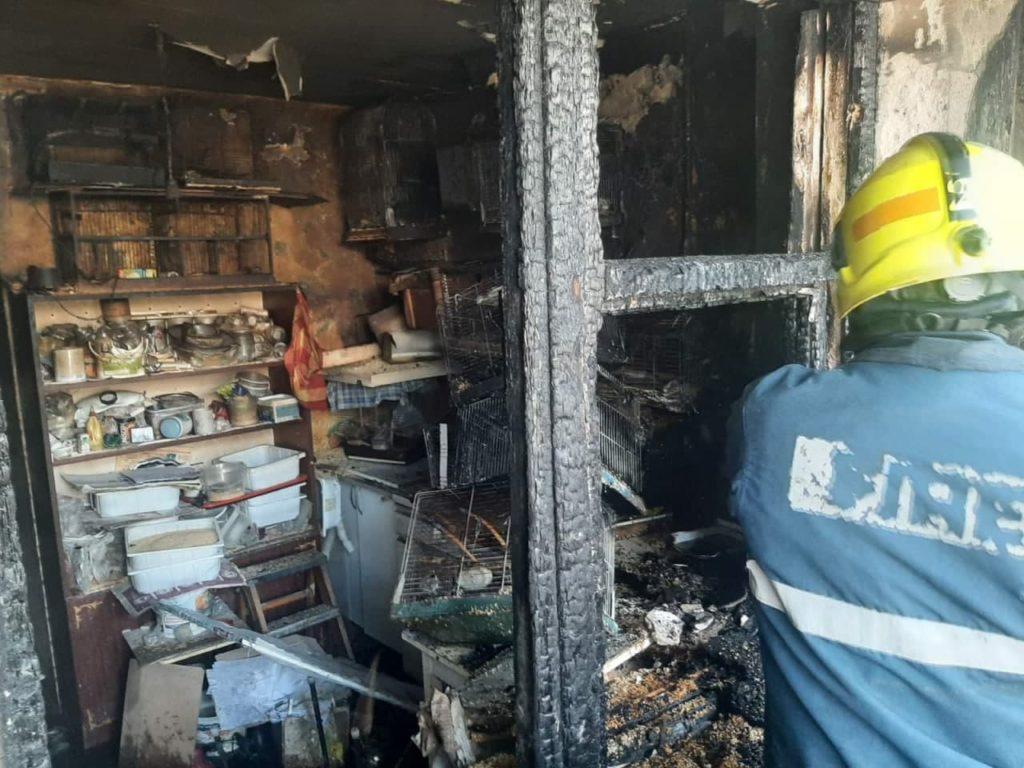Incendiu într-un apartament din cartierul Telecentru. O femeie de 74 de ani a suferit arsuri (FOTO/VIDEO)