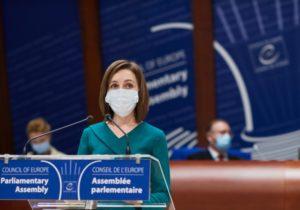 «Люди настроены наборьбу ирассчитывают нанаших партнеров вСовете Европы». Очем Санду говорила вПАСЕ