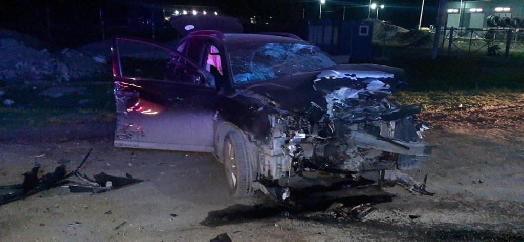 Un șofer beat a tamponat patru polițiști la Bălți. Două victime sunt în stare gravă (FOTO)
