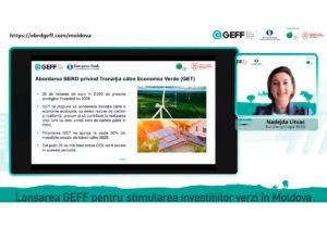 Geff, programul BERD de finanțare a economiei verzi, s-a lansat oficial în Moldova