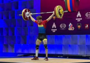 Halterofilul Daniel Lungu a cucerit medalia de aur la stilul smuls în cadrul Campionatului European de la Moscova