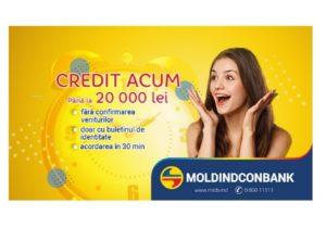 Credit Acum de la Moldindconbank, finanțare rapidă pentru orice nevoi