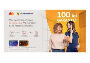 Moldindconbank oferă un bonus de 100 de lei deținătorilor cardurilor sociale
