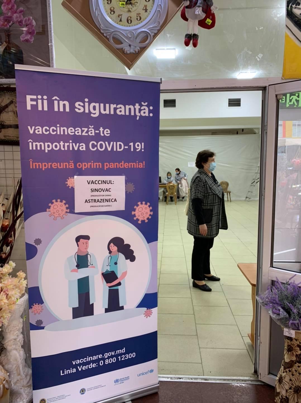 ВКишиневе наЦентральном рынке открыли центр вакцинации