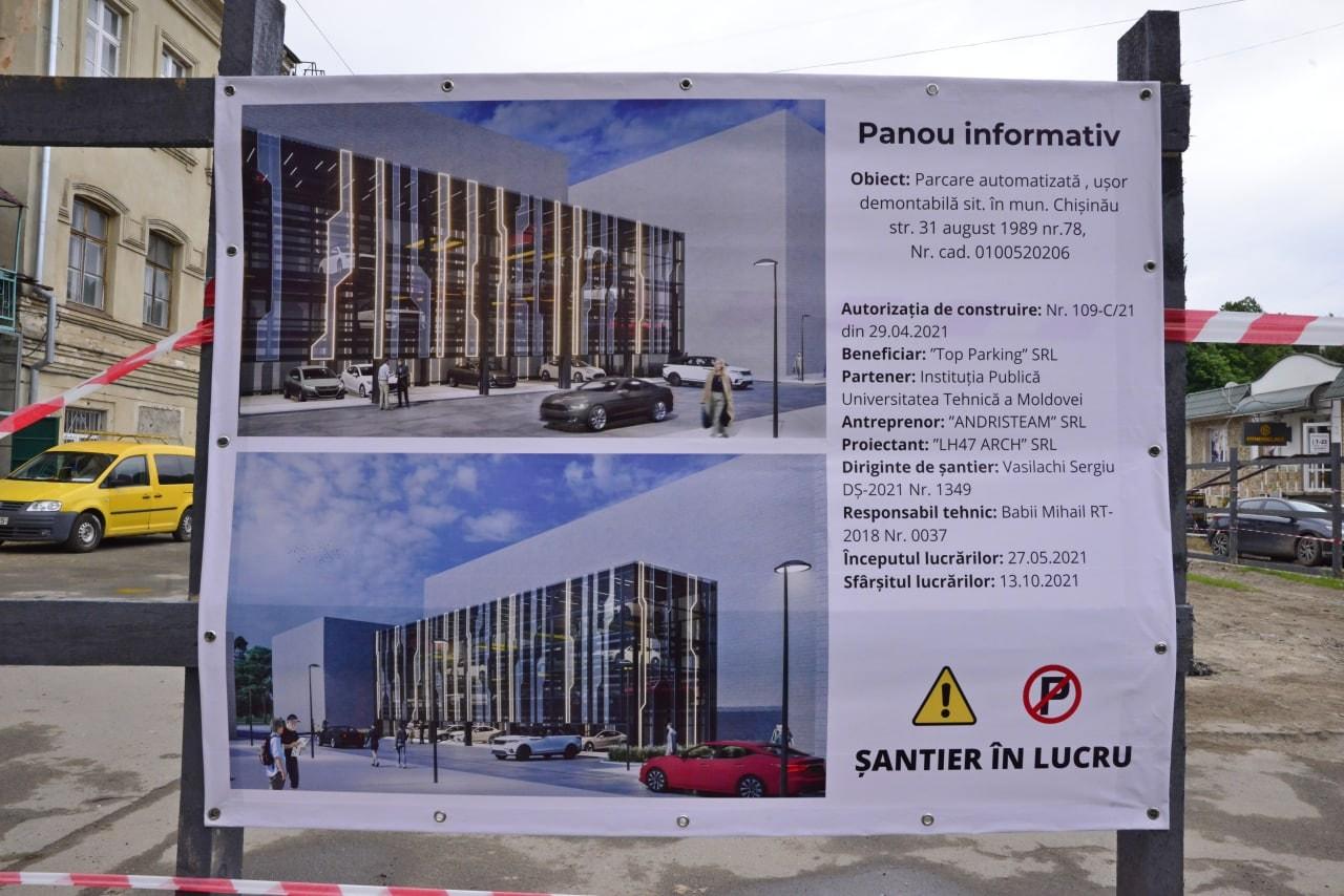 O parcare multietajată va fi construită în centrul capitalei. Cum va arata? (FOTO)