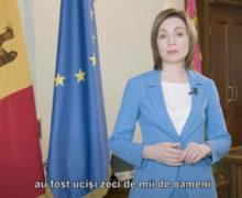 «Молдова оказалась вэпицентре великих трагедий XXвека». Обращение Санду послучаю 9мая (ВИДЕО)
