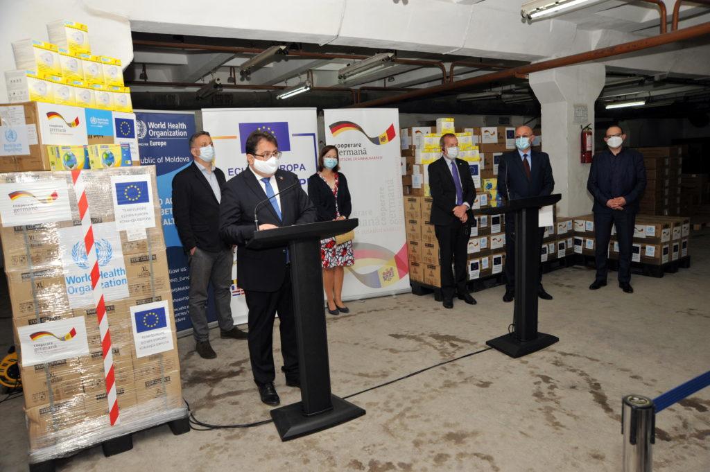ЕС и Германия передали Молдове партию защитной экипировки для врачей на €537,5 тыс. (ФОТО)
