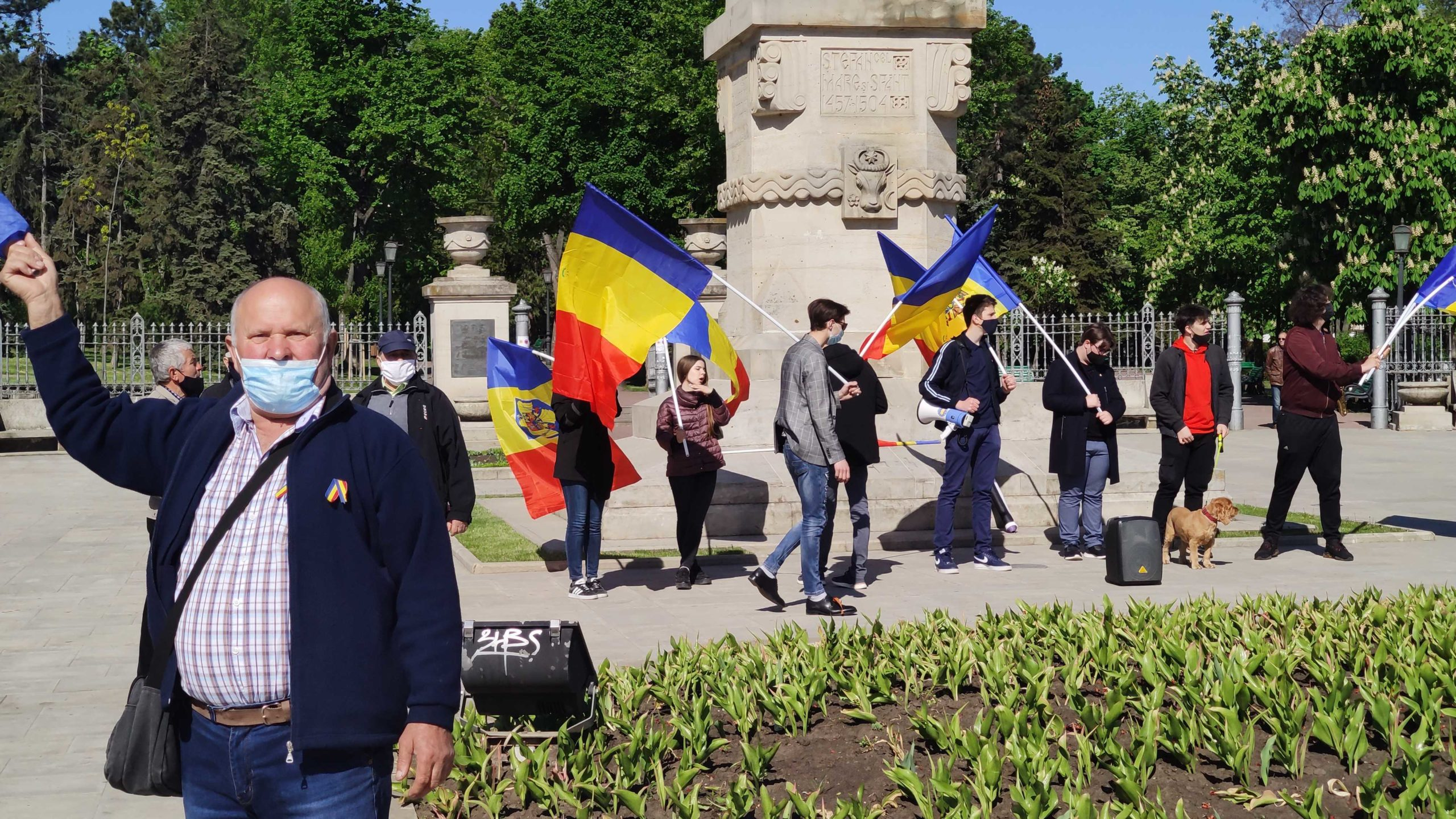 «Мы— антисоциалисты». ВКишиневе нацентральной площади прошла контрманифестация (ФОТО)