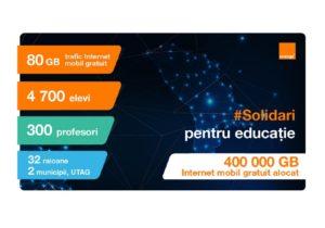 Solidari pentru Educaţie – 5000 elevi şi profesori au cea mai bună conectivitate, gratuit, de la Orange Moldova
