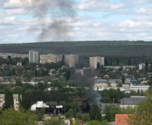 В Кишиневе возле сгоревшего склада лакокрасочных изделий вновь произошло возгорание (ФОТО)