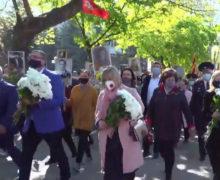В Бельцах проходит марш в честь Дня Победы. Онлайн-трансляция