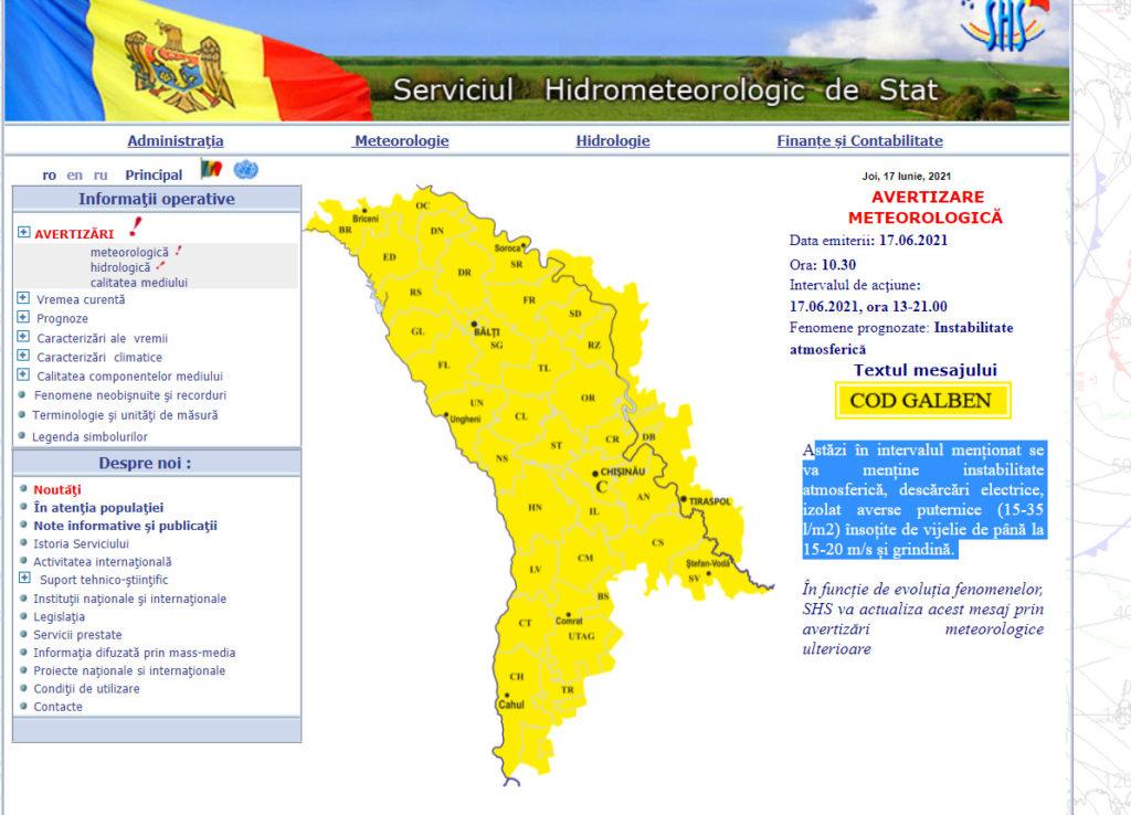 Un nou cod galben de ploi valabil în toată țara