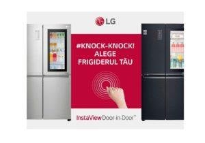 Bați de două ori – ai acces ușor. Knock! Knock! Cine e? Frigiderul LG Instaview Door-in-Door™