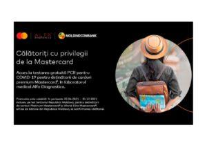 Moldindconbank:Testare gratuită pentru COVID-19 cu cardurile Mastercard Platinum și World Elite