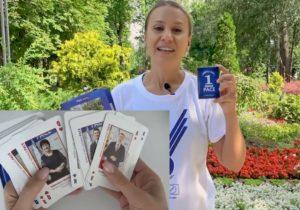 Активисты PACE вместе слистовками раздают игральные карты с изображением кандидатов партии (ВИДЕО)
