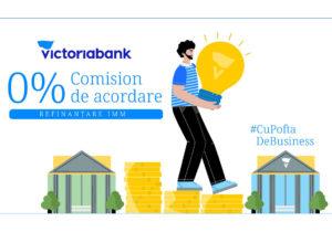 Victoriabank susține IMM-urile, 0% comision de acordare pentru creditele refinanțate de la alte bănci